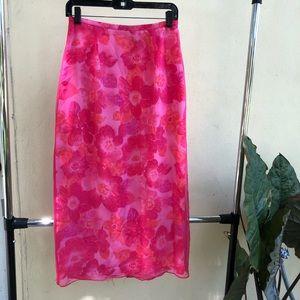 90's Maxi High Waisted Maxi Skirt
